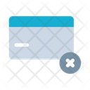 Delete Card Rejected Icon