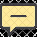 Delete Chat Bubble Delete Chat Chatting Icon