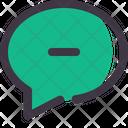 Chat Comment Minus Icon
