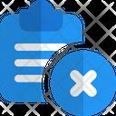 Delete Clipboard Delete File Remove File Icon
