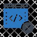 Coding Webpage Scripting Icon