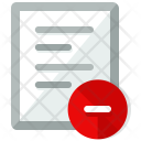 Delete File Document Icon