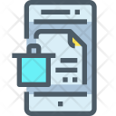 Document Trash Mobile Icon