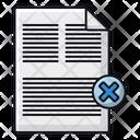Delete Document Delete File Remove File Icon