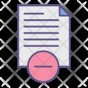 Document Blocking Paper Icon