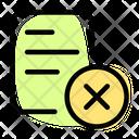 Delete Document Remove Document Delete File Icon