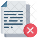 Delete Document Icon