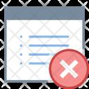 Delete document property Icon