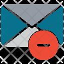 Email Delete Envelope Icon