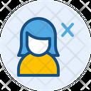 Delete Female User Icon