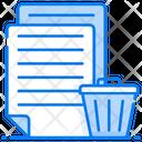 Delete File Delete Document Garbage File Icon