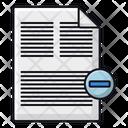 Delete File Remove File Remove Document Icon
