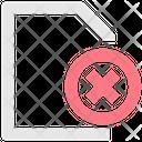Delete File Remove File Calcel File Icon