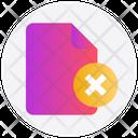 File Delete Reject Icon
