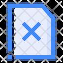 Delete File Remove File Document Icon