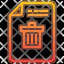 Delete File Trash Bin Icon