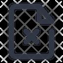 Delete File File Cross Icon