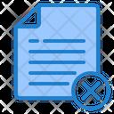 Delete File Remove File Delete Document Icon
