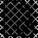 Cross Sign Document Icon
