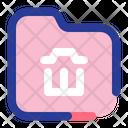 Delete Folder Trash Folder Remove Icon