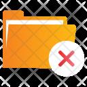 Cancel Delete Directory Icon