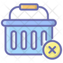 Delete From Basket Remove From Bucket Shopping Basket Icon