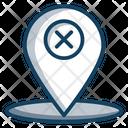 Delete Location Cancel Location Gps Icon