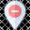 Minus Location Map Icon