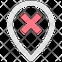 Delete Location Location Pin Icon