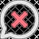 Delete Message Remove Message Cancel Message Icon