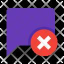 Delete Message Chat Icon