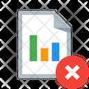 Delete Report Paper Icon