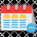 Delete Schedule Calendar Delete Date Icon