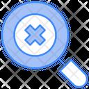 Delete Cross Lense Icon