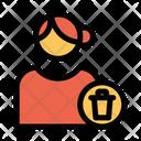 Delete User Delete Profile Female Profile Icon