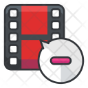 Delete Video Movie Icon