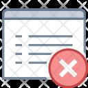 Delete View Website Icon