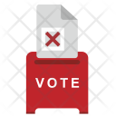 Cancel Choice Elections Icon