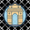 Delhi Gate India Famous Building Landmark Icon