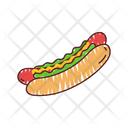 Hot Dog Food Fast Food Icon