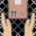 Cardboard Hand Box Icon