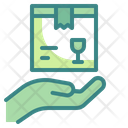 Delivered Parcel Delivery Hand Icon