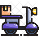 Delivery Delivery Vehicle Delivery Scooter Icon