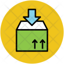Delivery Package Down Icon