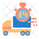Hour Delivery Shipping Truck Truck Icon