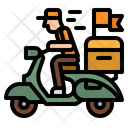 Delivery Scooter Bike Icon