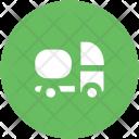 Delivery Truck Concrete Icon