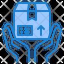 Delivery Box Hand Icon