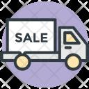 Delivery Van Sale Icon