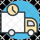 Delivery Van Clock Icon
